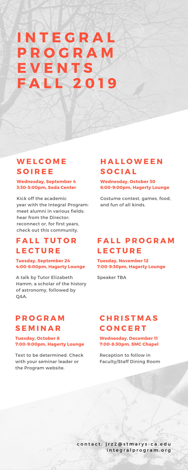 Integral Program events fall 2019